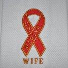"""MARINE WIFE RIBBON"" KITCHEN DISHTOWEL"