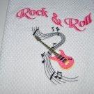 """Rock & Roll"" Guitar Kitchen Dishtowel"