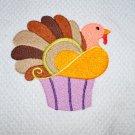 "Give Thanks Cupcake ""Turkey"" Thanksgiving Kitchen Dishtowel"