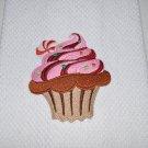 """Peppermint Cupcake"" Christmas Kitchen Dishtowel"