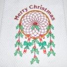 """Dream Catcher Merry Christmas"" Christmas Kitchen Dishtowel"