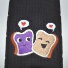 """Peanut Butter & Jelly Love"" Valentines Day Kitchen Dishtowel"