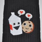 """Milk & Cookie Love"" Valentines Day Kitchen Dishtowel"
