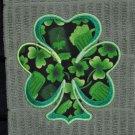 "St. Patrick's Day Applique ""Shamrock"" Shamrock Cheer Kitchen Dishtowel"