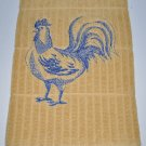 (Bluework Rooster) Kitchen Dishtowel