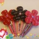 Flower Snap hair clips...Valentine