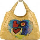 "Susan Nichole ""love"" peace tattoo handbag bag purse tote hobo"