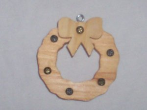Wooden Wreath ornament