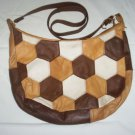 Quilt Design Hexagon Leather Purse