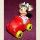 VINTAGE DISNEY COLLECTIBLE  ARCO RUBBER MINNIE MOUSE CAR