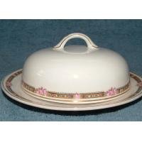 VINTAGE CROOKSVILLE CHINA Co. ROSE BUTTER DISH