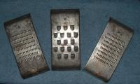 3 Vintage Shredder Graters Super Remark Mfg Butler Ind