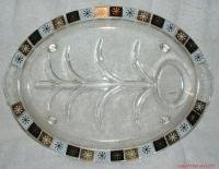 Anchor Hocking Fire King Well & Tree Serving Platter