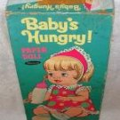 Vintage 1967 Mattel BABY'S HUNGRY Paper Doll W/Orig Box