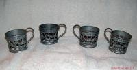 Vintage A&W Cream Soda Metal Glass Holders