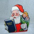 Vintage Pair of Cardboard Santa Bust
