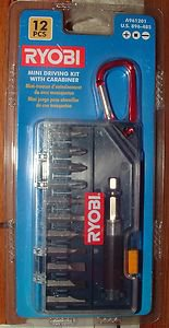 Ryobi 12 Piece Mini Driving Kit A961201 New In Package