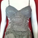 *NWT* CACHE Silver Gray Hand-Beaded Cami - Size 2