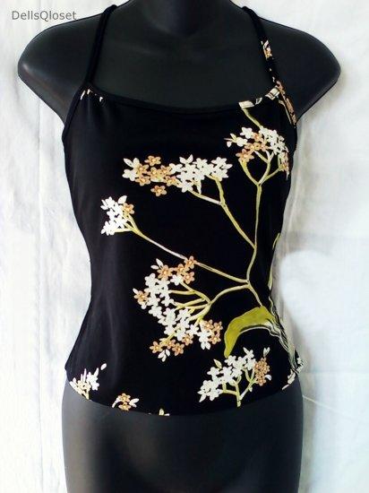 ***SOLD***BCBG MAX AZRIA COLLECTION Black Floral Cami Top - Size XS