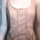 MODA INTERNATIONAL Pink & Cream Corset Top - Size Medium