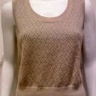 ANN TAYLOR LOFT Beige Sleeveless Basket-weave Knit Top - Size Medium