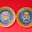 #1 - 2 Vintage GUCCI Chair Porcellana Porcelain Collector's Keepsake Plates - RARE