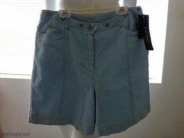 *NWT* $49 RALPH LAUREN 100% Cotton Pale Blue Shorts Size 14