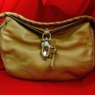 FRANCESCO BIASIA Tan Italian Leather Shoulder Bag