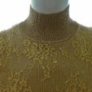 CACHE Gold Lace Overlay Sleeveless Knit Top - Size Medium