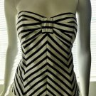 WHITE HOUSE BLACK MARKET - Black & White Stripe Corset/Bustier Top - Size 2