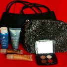 7PC LOT - LANCOME Deluxe Gift Set Eyeshadow Lip Gloss Bi-Facil... + Evening Bag