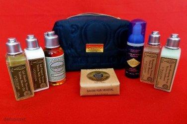 L'OCCITANE 8-PC Deluxe Travel Gift Set Shampoo Lotion Cleansing Foam Soap Etc