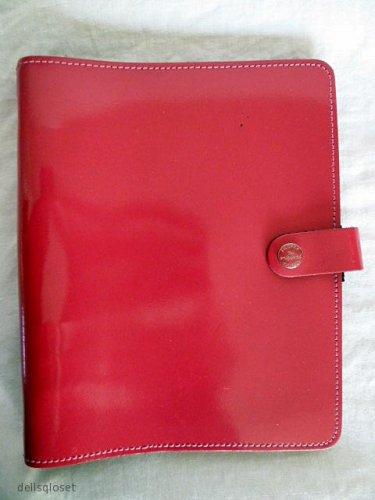 FILOFAX The Original A5 Fuchsia Patent Leather Organizer Planner Agenda #022440