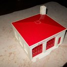 Plasticville - Fire Dept - White with Red Roof