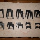 Lionel - #110 - Trestle Set - Black - 19 Pieces