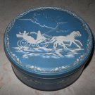 Storage Tin - Horse And Carriage Design - Cylindrical
