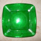 "Green Glass Plate - 8 1/4"" x 8 1/4"" x 3/4"""