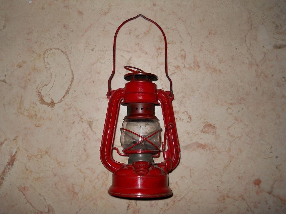 Winged Wheel - Metal Oil Lantern - #350 - Red - Japan