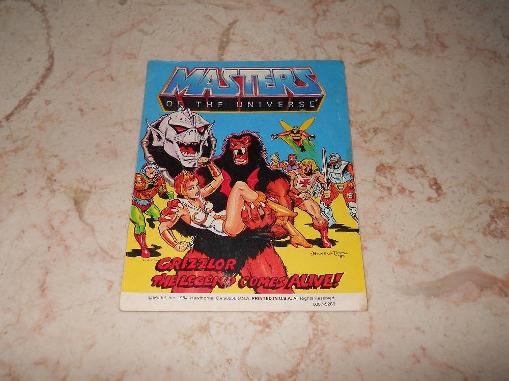 Grizzlor: The Legend Comes Alive - Mini Comic - Masters Of The Universe - 1984