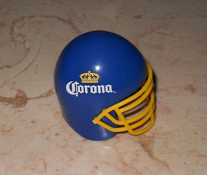 Corona - Blue Football Helmet Bottle Opener - Plastic - New