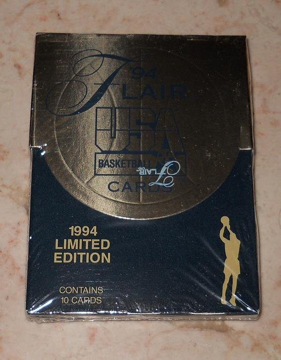 Fleer - Flair USA Basketball Cards - Unopened Pack Of 10 - 1994 - New