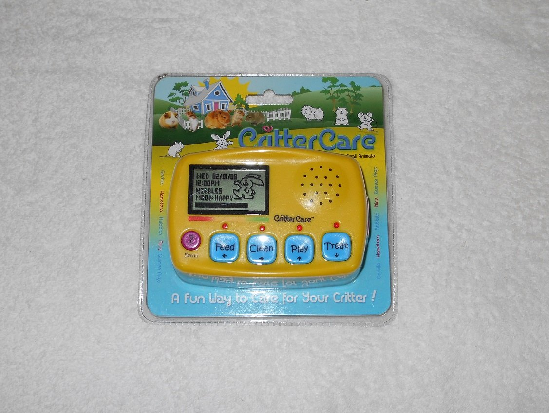 Critter Care - Electronic Small Animal Care Reminder Game - New