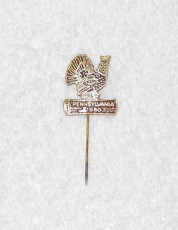 Pennsylvania Turkey Pin - Metal - 1980