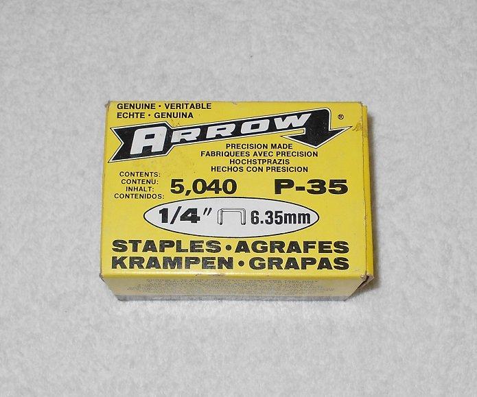 """Arrow - P-35 Staples - For P-35 & P-35S Plier Staplers - 1/4"""" - 5,040 Pieces - Vintage"""