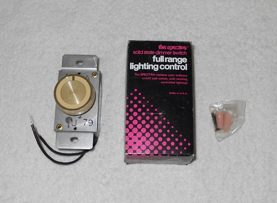 Foxmar - The Spectra - Rotary Dimmer Switch - Ivory - Vintage - New