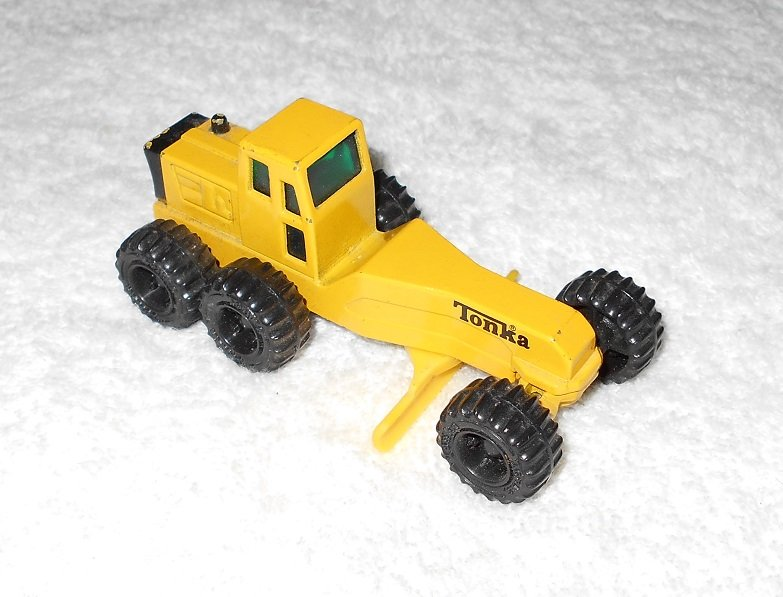 Tonka - Grader - Yellow - Metal - 1994