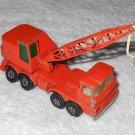Mobile Crane - #K-12 - Matchbox - Super Kings - Orange - Metal - 1971