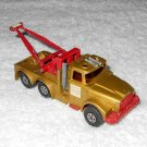 Heavy Wreck Truck - #K2 - Matchbox - Super Kings - Gold - Metal - Vintage