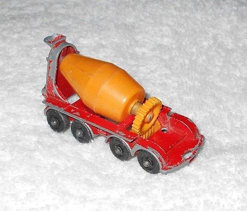 Foden Concrete Truck - #21 - Matchbox - Red & Orange - Metal - Vintage