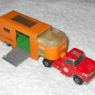 Dodge Tractor & Articulated Horse Van - #K18 - Matchbox - Super Kings - Red & Orange - 1971